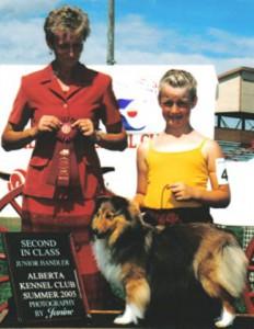 Junior handling Ashley Summer 2005 Second